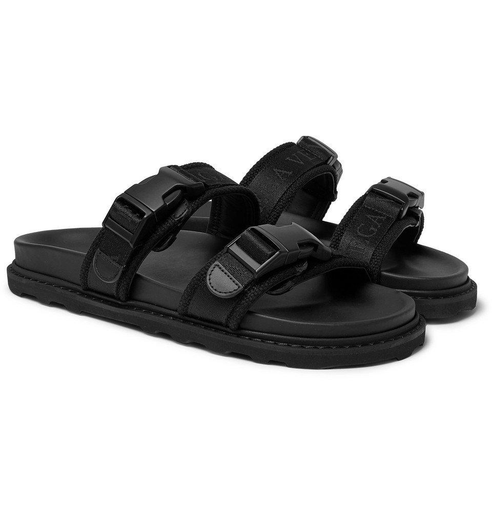 Photo: Bottega Veneta - Leather and Webbing Sandals - Black