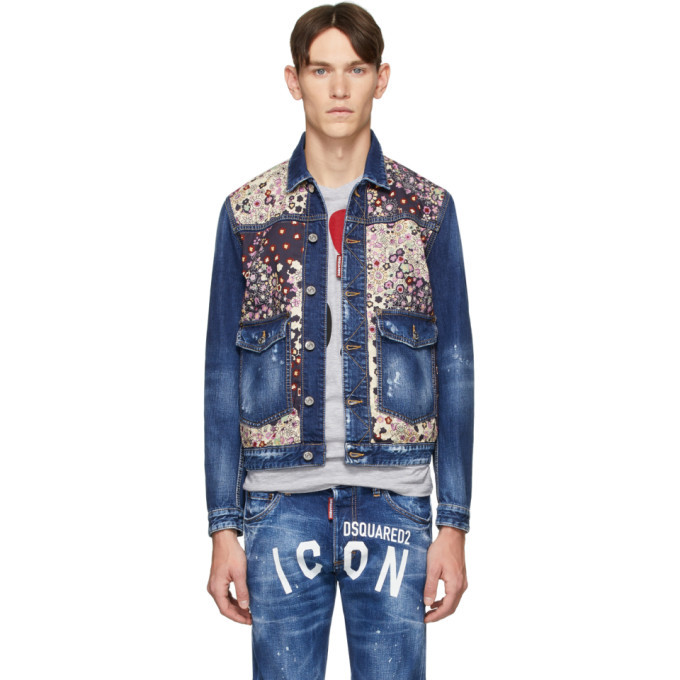 Photo: Dsquared2 Blue Denim Dan Medium Wash Jacket