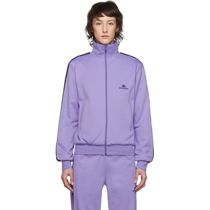 Photo: Balenciaga Purple French Terry Zip-Up Sweater