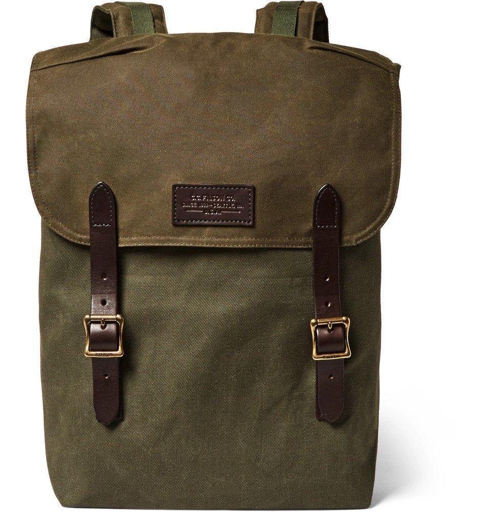 Filson - Ranger Leather-Trimmed Twill Backpack - Men - Green