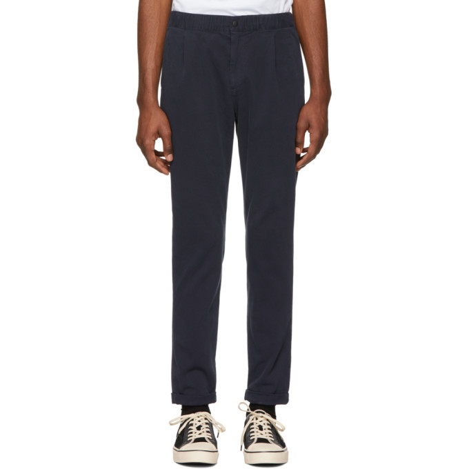 Photo: PS by Paul Smith Navy Stretch Trousers