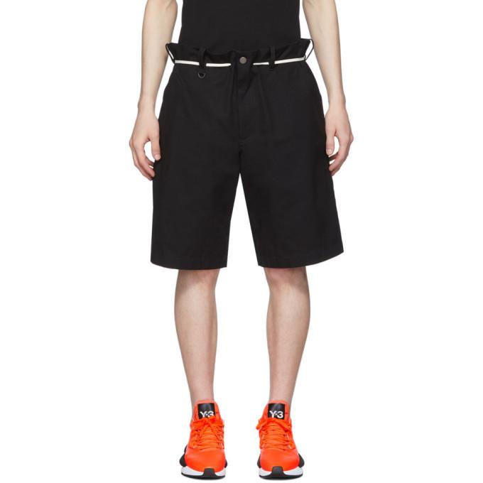 Photo: Y-3 Black Canvas Workwear Shorts