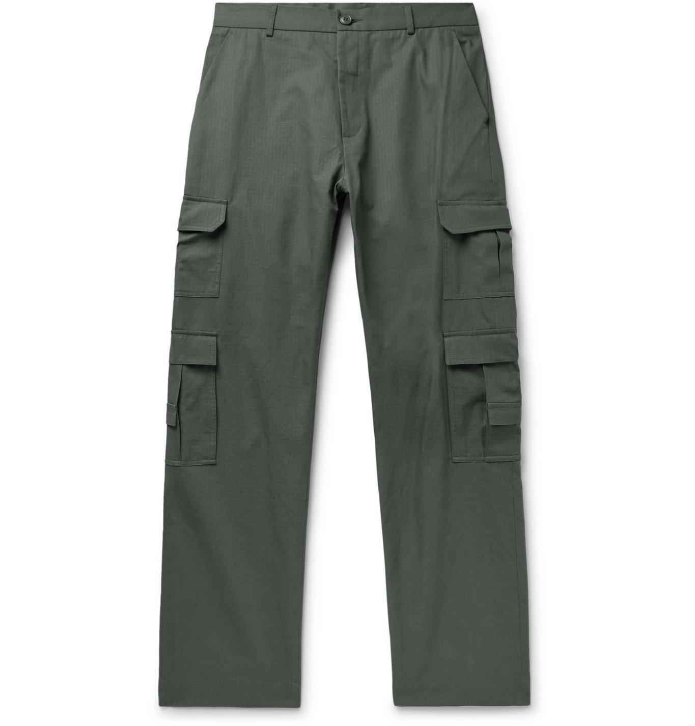 Martine Rose - Grow Cotton-Ripstop Cargo Trousers - Green