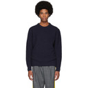 Sunspel Navy British Wool Chunky Sweater