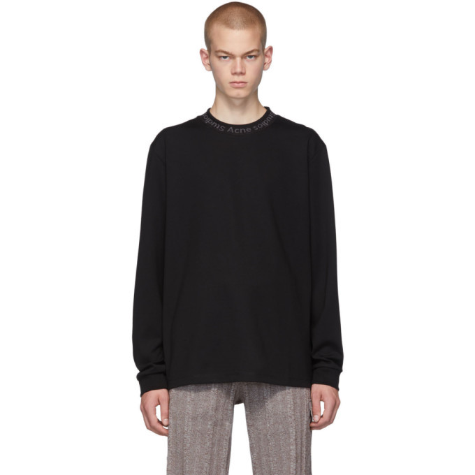 Photo: Acne Studios Black Elogho Long Sleeve T-Shirt