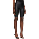 Wolford Black Faux-Leather Edie Biker Shorts