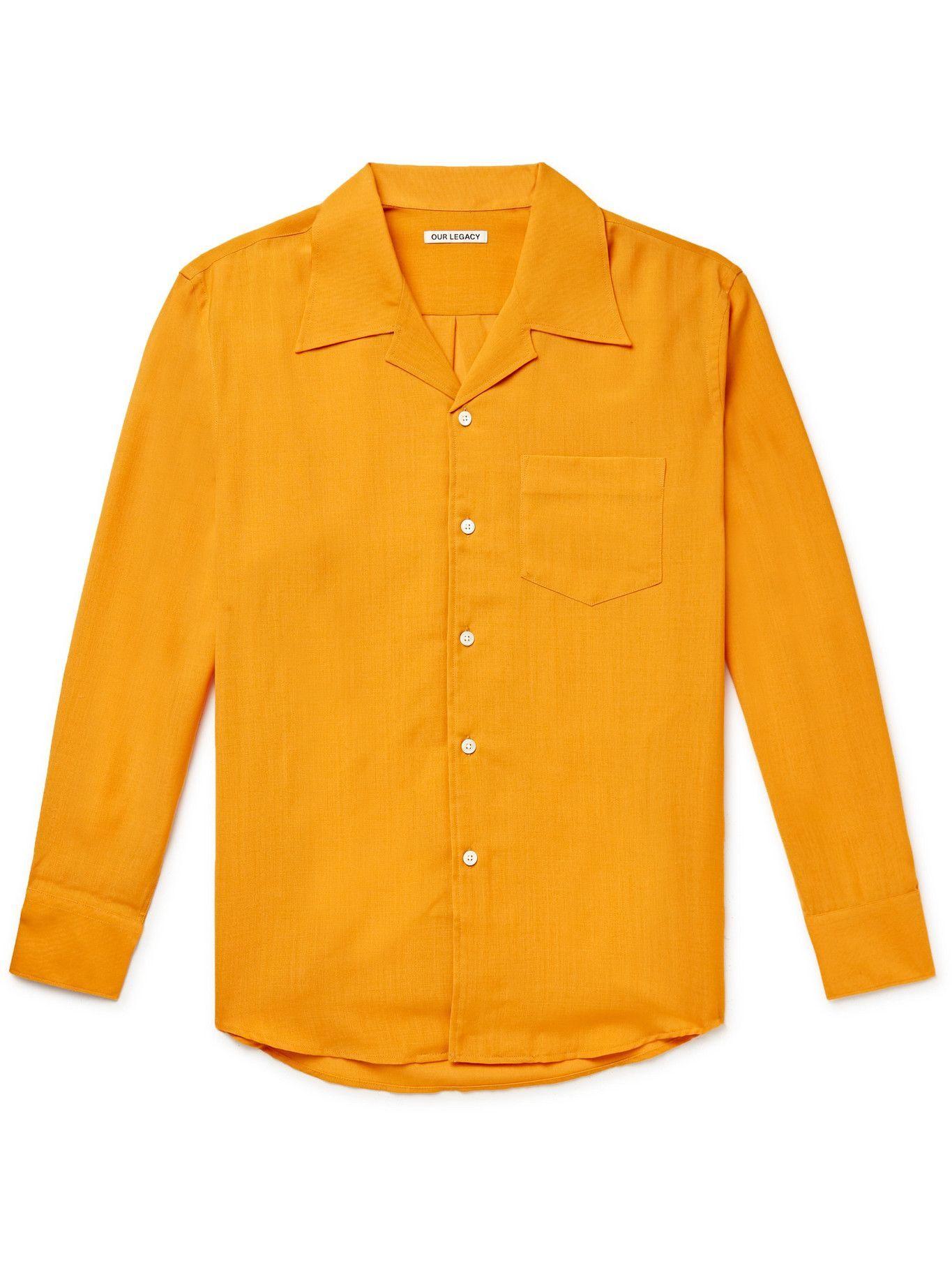 Photo: OUR LEGACY - Loco Camp-Collar Woven Shirt - Orange