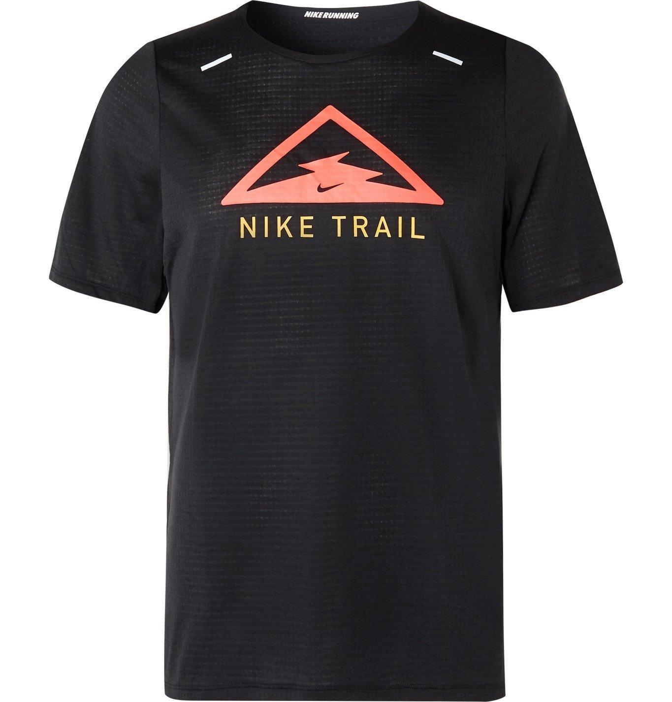 Nike Running - Rise 365 Trail Dri-FIT T-Shirt - Black