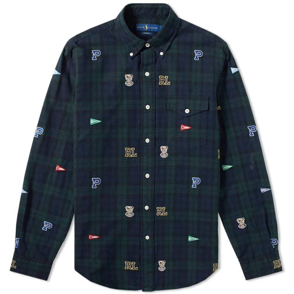 Photo: Polo Ralph Lauren Black Watch Tartan Embroidered Button Down Shirt