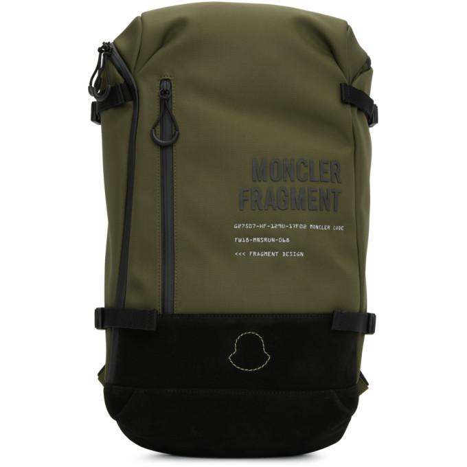 Photo: Moncler Genius 7 Moncler Fragment Hiroshi Fujiwara Green Zaino Backpack