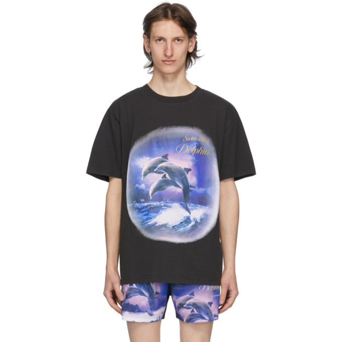 Photo: Han Kjobenhavn Black Swim With Dolphins T-Shirt