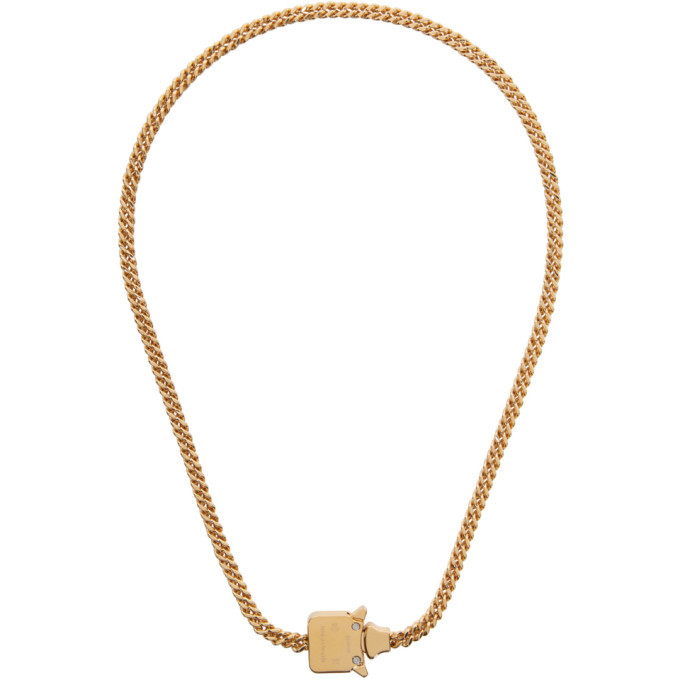 Photo: 1017 ALYX 9SM Gold Mini Cubix Necklace