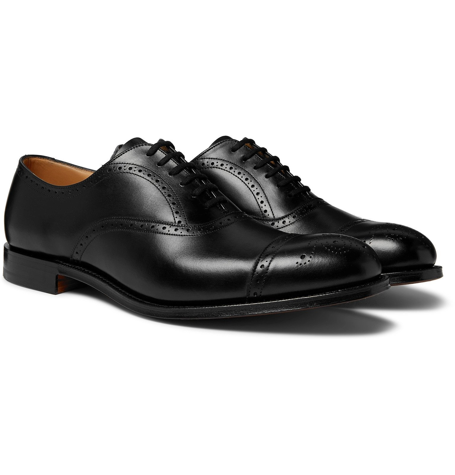 Photo: Church's - Berlin Leather Wingtip Brogues - Black