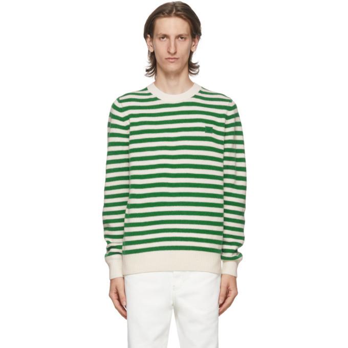 Photo: Acne Studios Green and White Breton Stripe Sweater