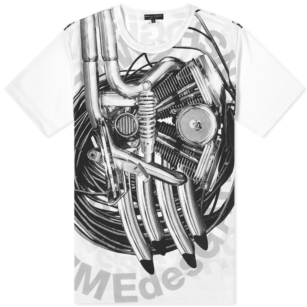 Photo: Comme des Garcons Homme Plus Machine Print Logo Tee
