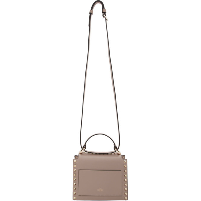 Valentino Pink Valentino Garavani Rockstud Small Top Handle Bag