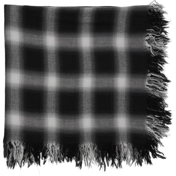 Photo: Attachment Black and White Check Scarf
