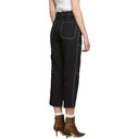 3.1 Phillip Lim Black Woolmark Slim Cargo Jeans