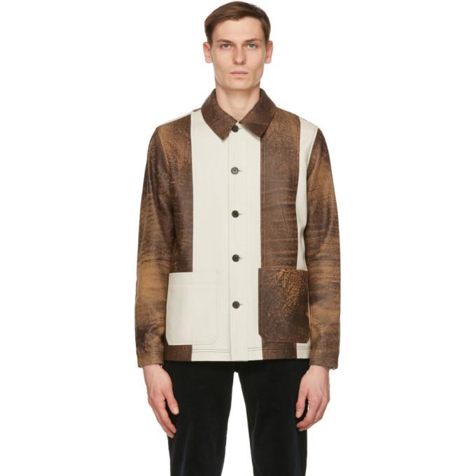 Photo: Wood Wood Brown Leather Winston Jacket