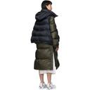 Sacai Navy and Khaki Down Nylon Puffer Coat