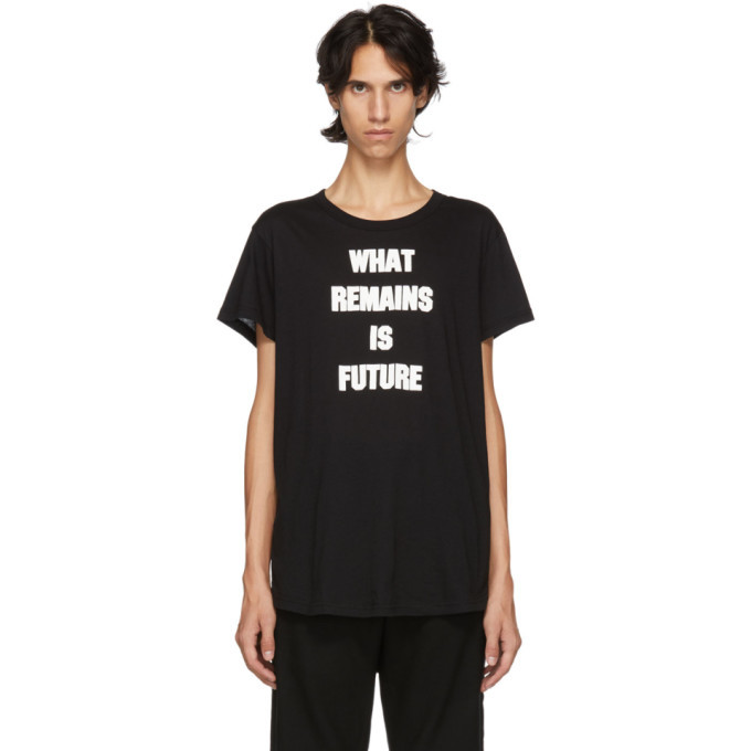 Photo: Ann Demeulemeester Black What Remains Is Future T-Shirt
