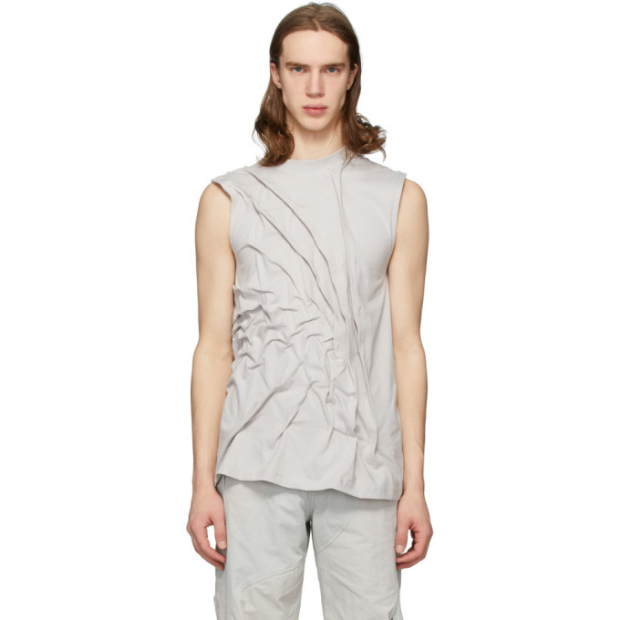 Photo: Post Archive Faction PAF Grey 3.0 Left Tank Top
