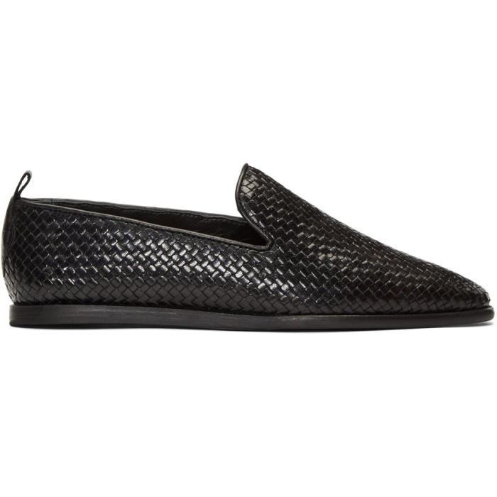 Photo: H by Hudson Black Woven Ipanema Loafers