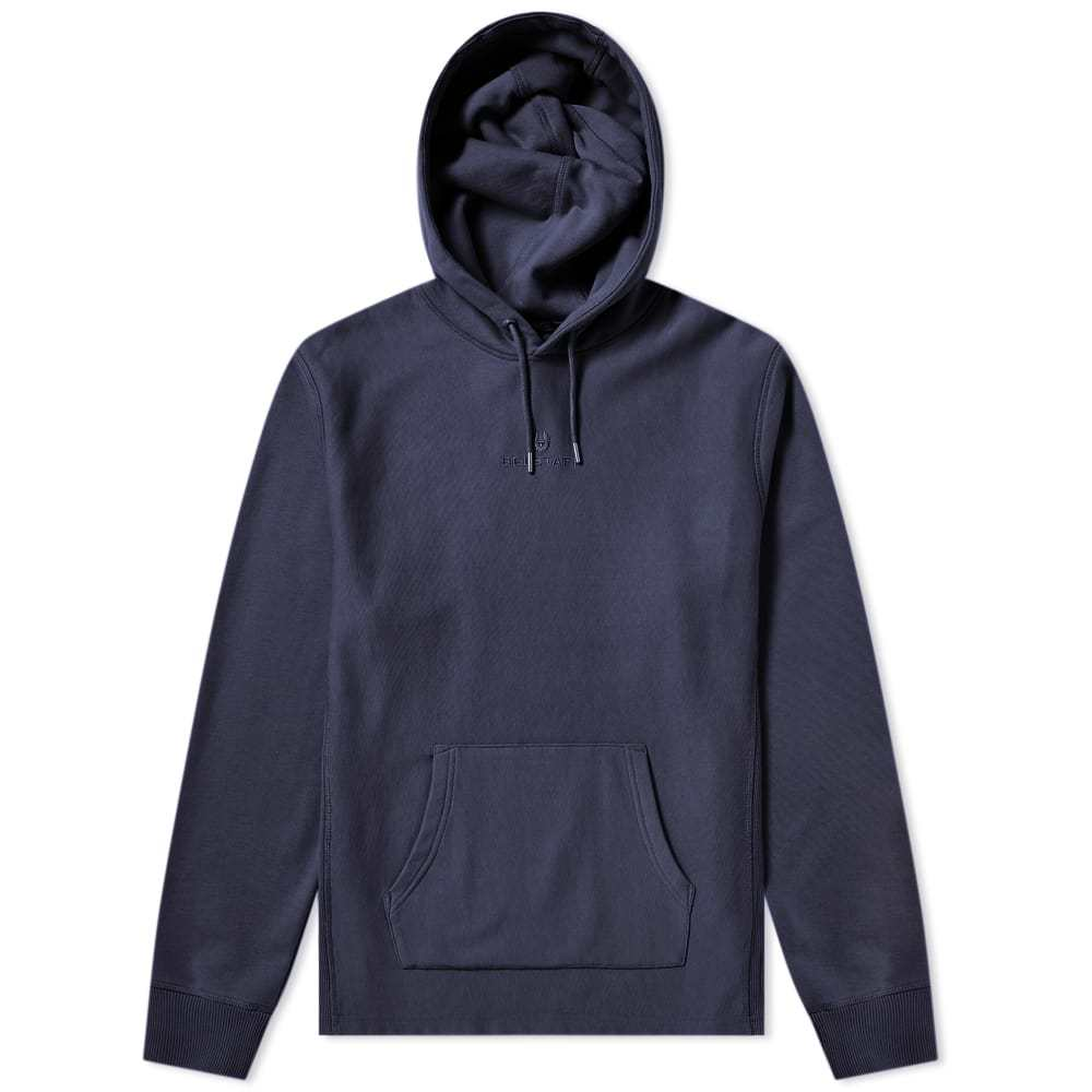 Photo: Belstaff Padox Popover Logo Hoody Deep Navy