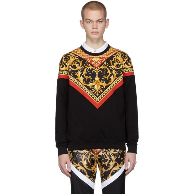 Photo: Versace Black Barocco Print Sweatshirt