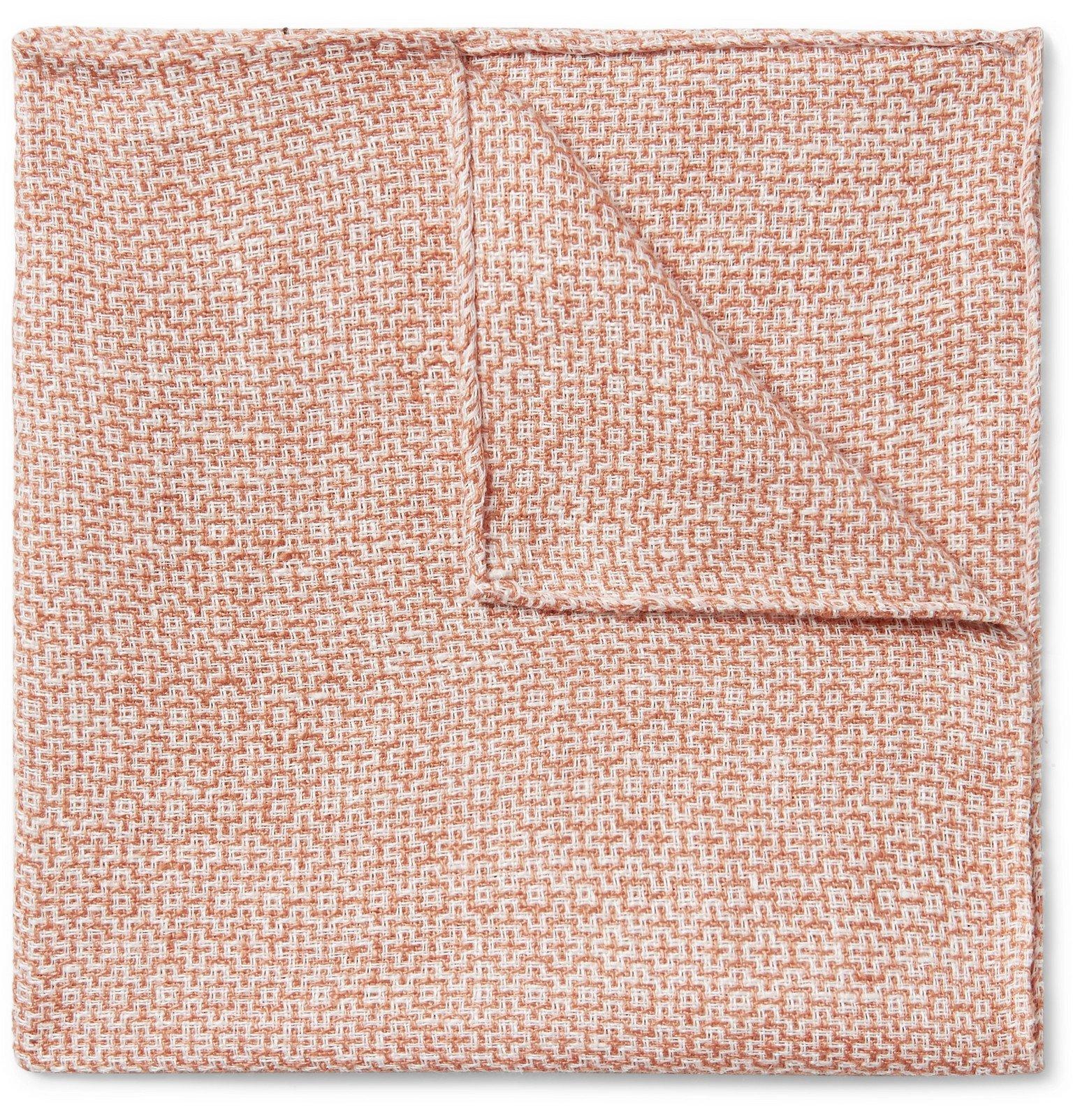 Photo: Favourbrook - *Culcross Linen-Jacquard Pocket Square - Orange