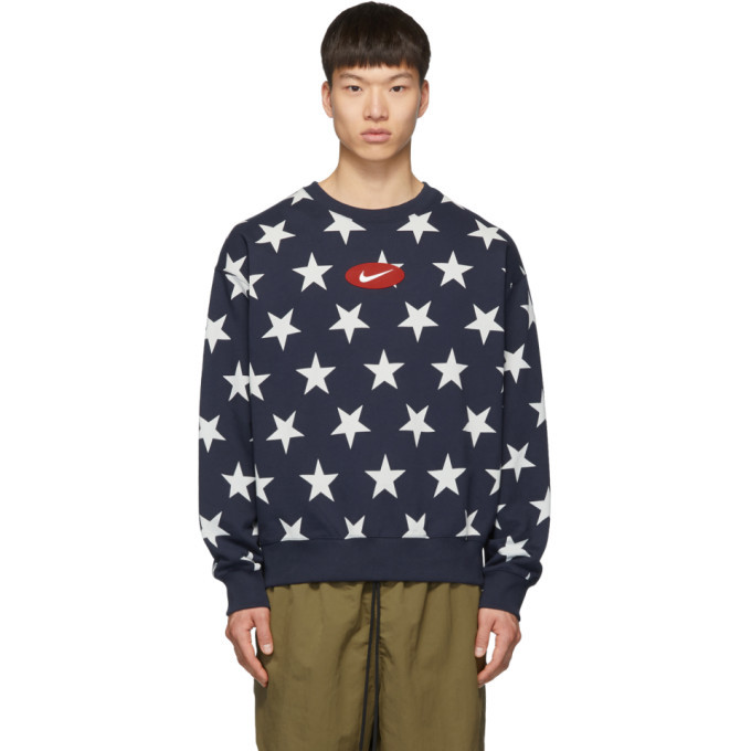 Photo: Nike Navy Fleece Star Crew Sweatshirt