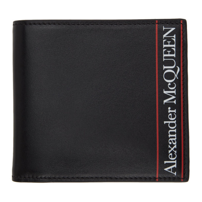 Photo: Alexander McQueen Black and Red Logo Bifold Wallet
