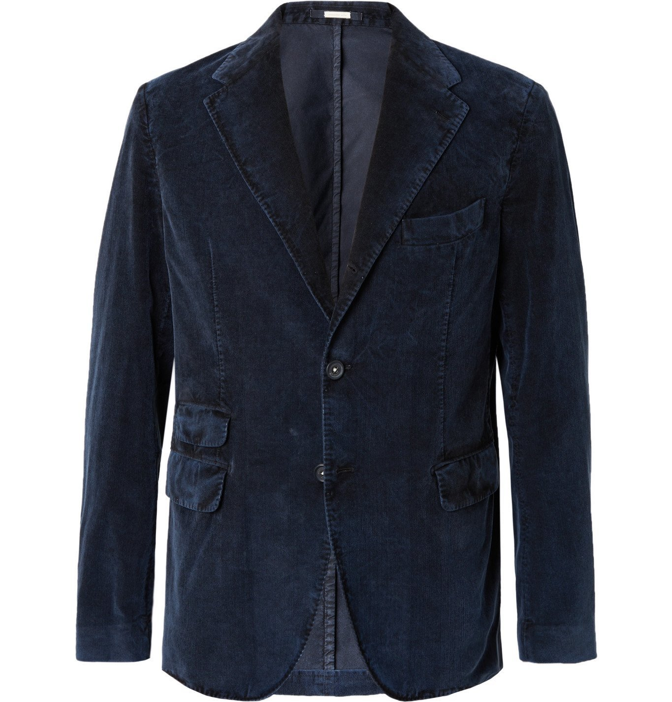 Photo: Massimo Alba - Cotton-Corduroy Suit Jacket - Blue