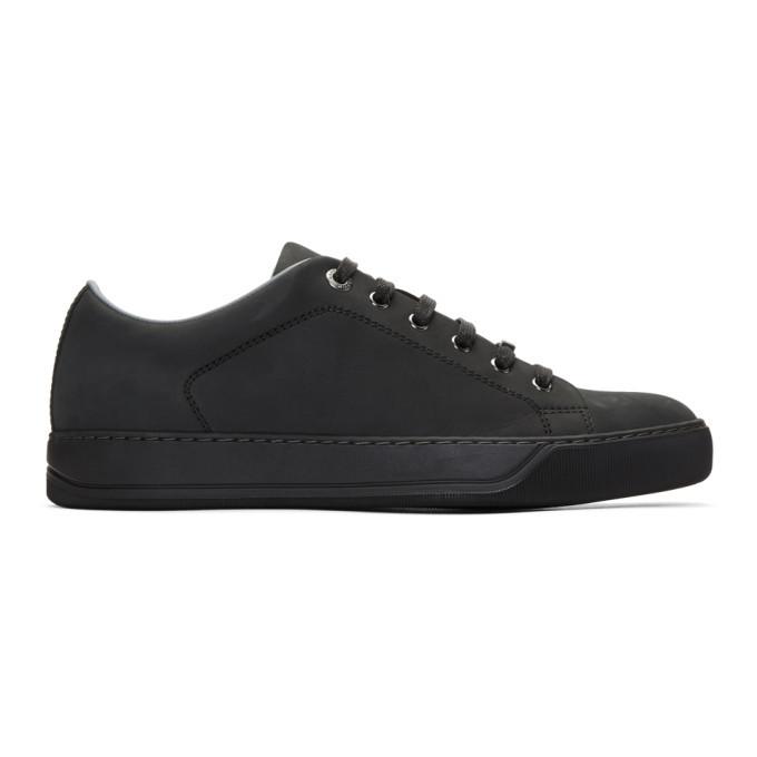 Photo: Lanvin Black Nubuck Sneakers