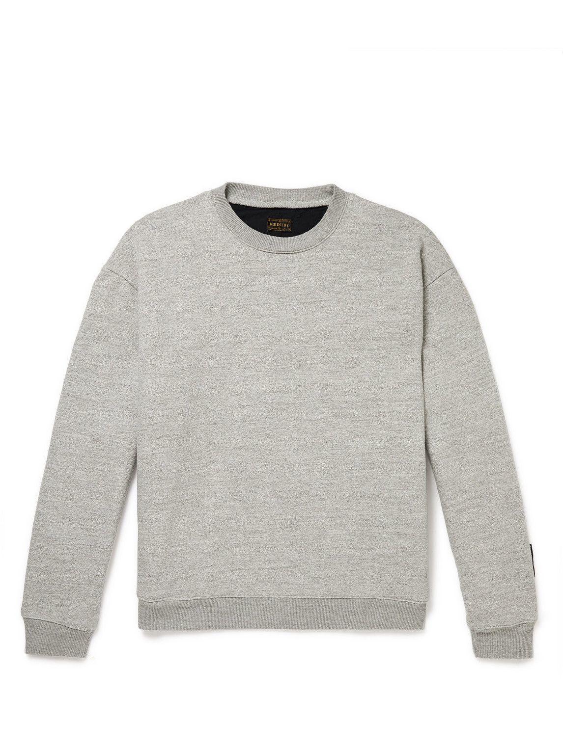 Photo: KAPITAL - Patchwork Cotton-Jersey Sweatshirt - Gray