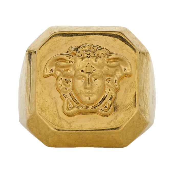 Photo: Versace Gold Octagonal Medusa Statement Ring