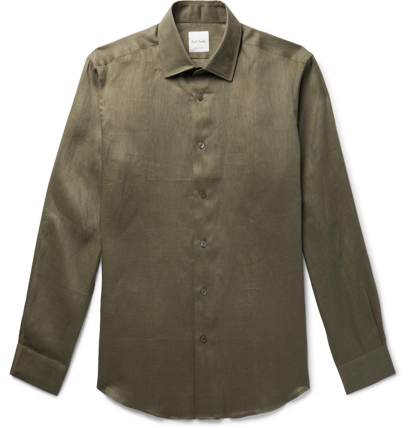 Photo: Paul Smith - Soho Linen Shirt - Neutrals