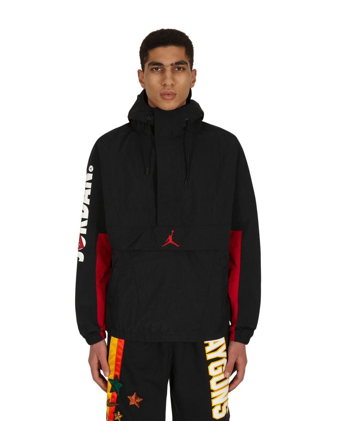 Photo: Nike Jordan Jumpman Classics Anorak Jacket Black/Gym Red