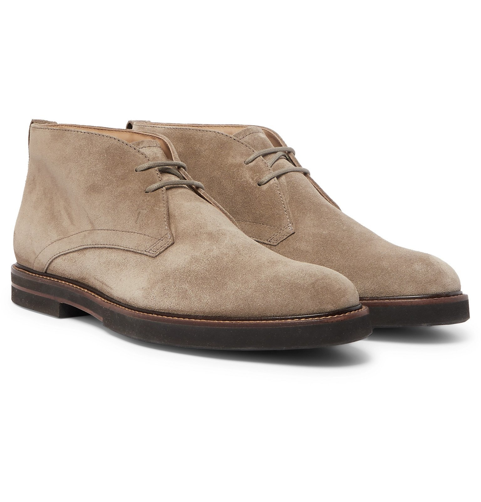 Photo: Tod's - Suede Desert Boots - Brown