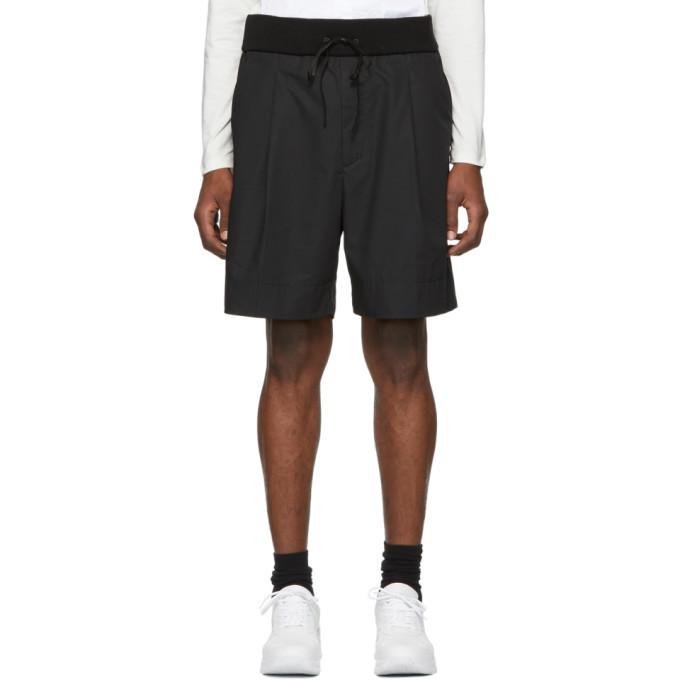 Photo: 3.1 Phillip Lim Black Pleated Drawstring Walking Shorts