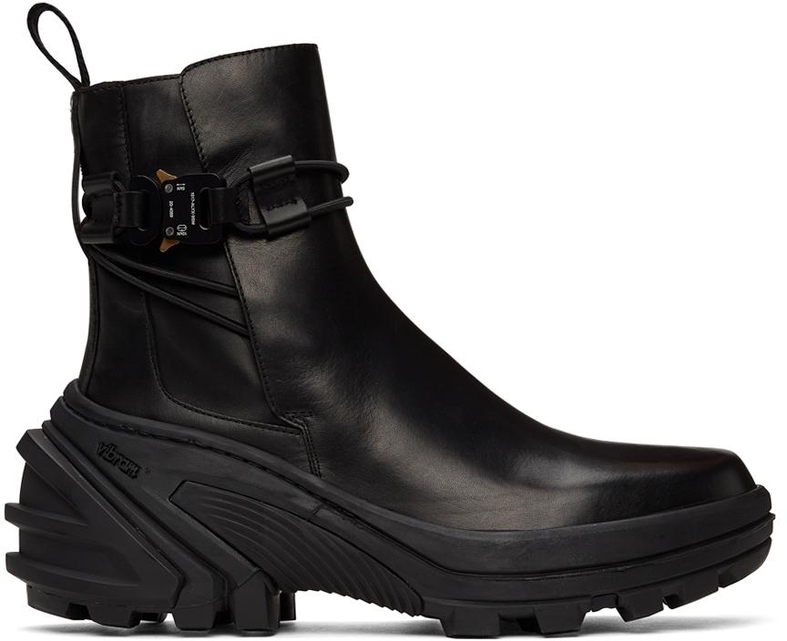 Photo: 1017 ALYX 9SM Black Buckle Chelsea Boots
