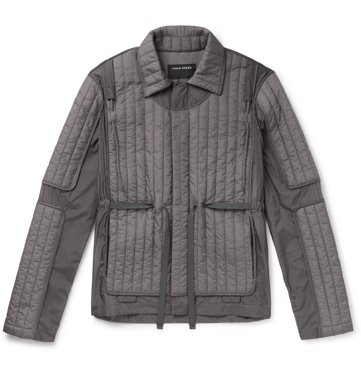 Photo: Craig Green - Canvas-Trimmed Quilted Shell Jacket - Gray