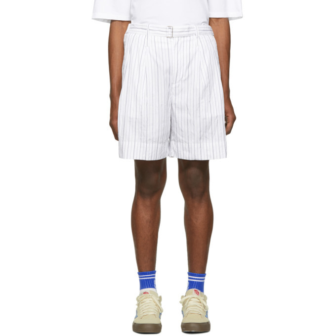 Photo: 3.1 Phillip Lim White Striped Relaxed Shorts