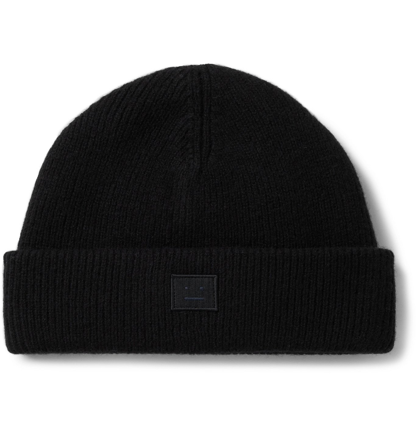 Photo: Acne Studios - Kansy Logo-Appliquéd Wool-Blend Beanie - Black