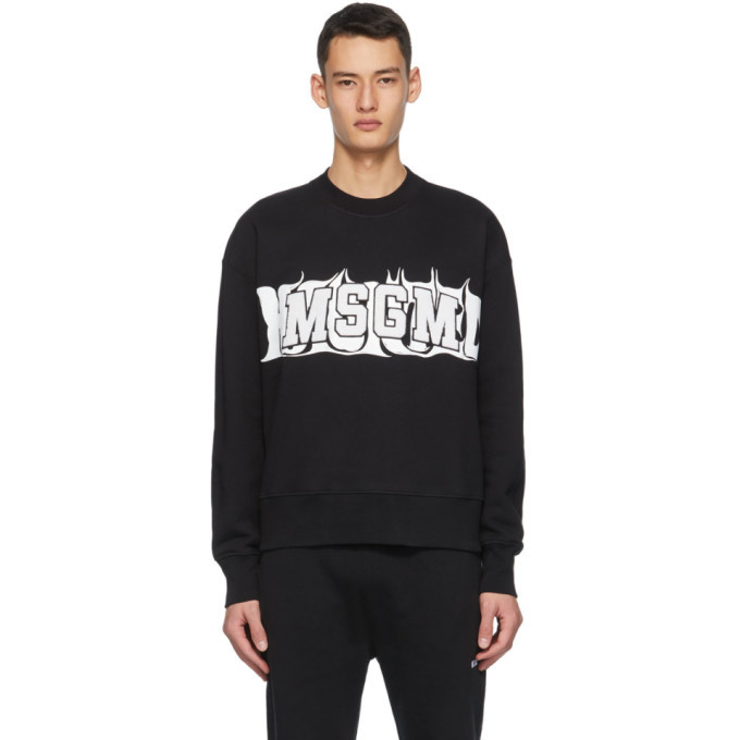 Photo: MSGM Black Haunted Logo Sweatshirt