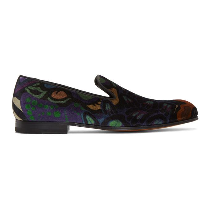 Photo: Paul Smith Multicolor Velvet Rudyard Loafers