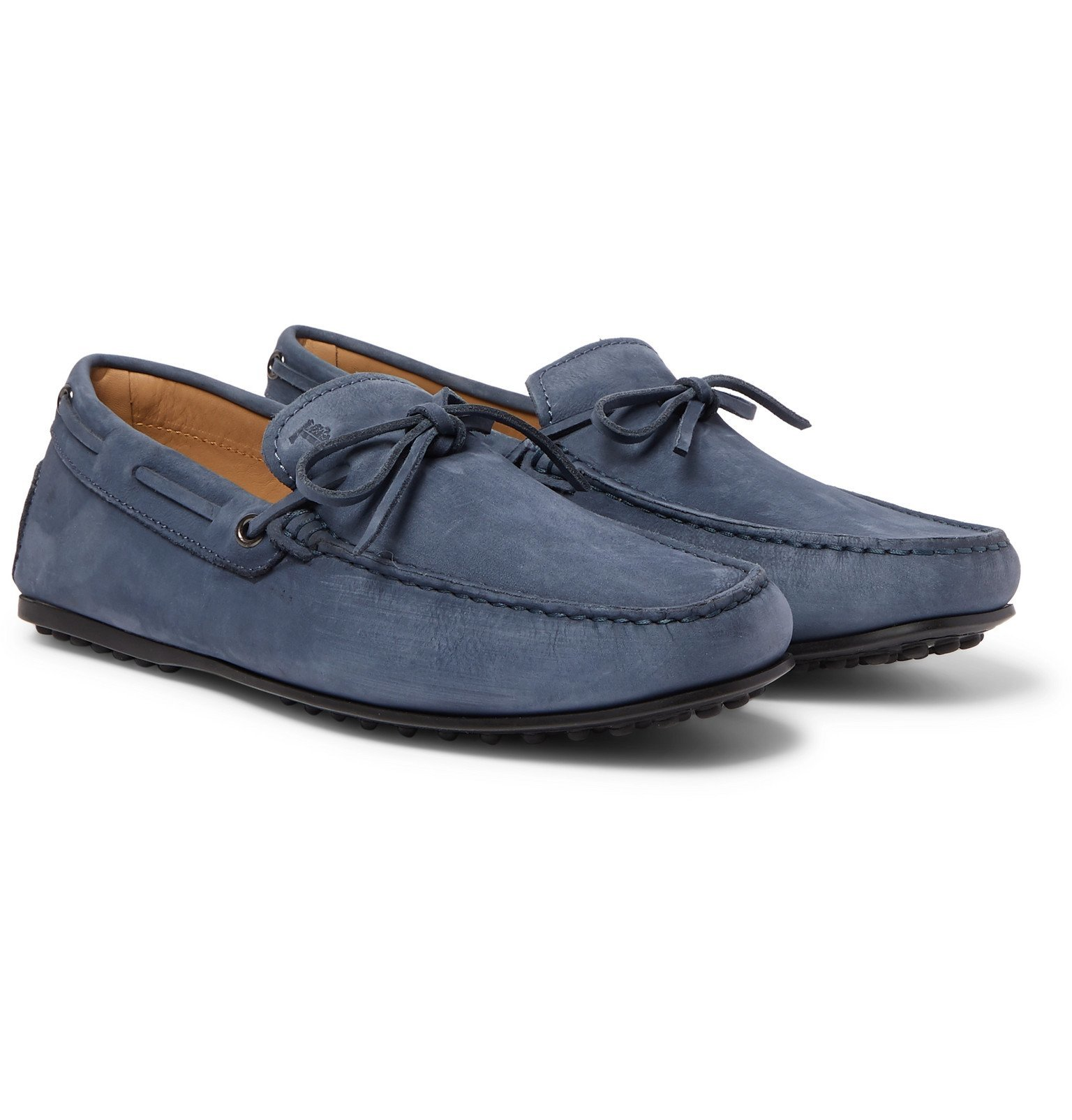 Tod's - City Gommino Nubuck Driving Shoes - Blue