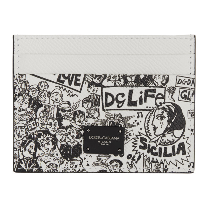 Photo: Dolce and Gabbana Black and White Graffiti Card Holder