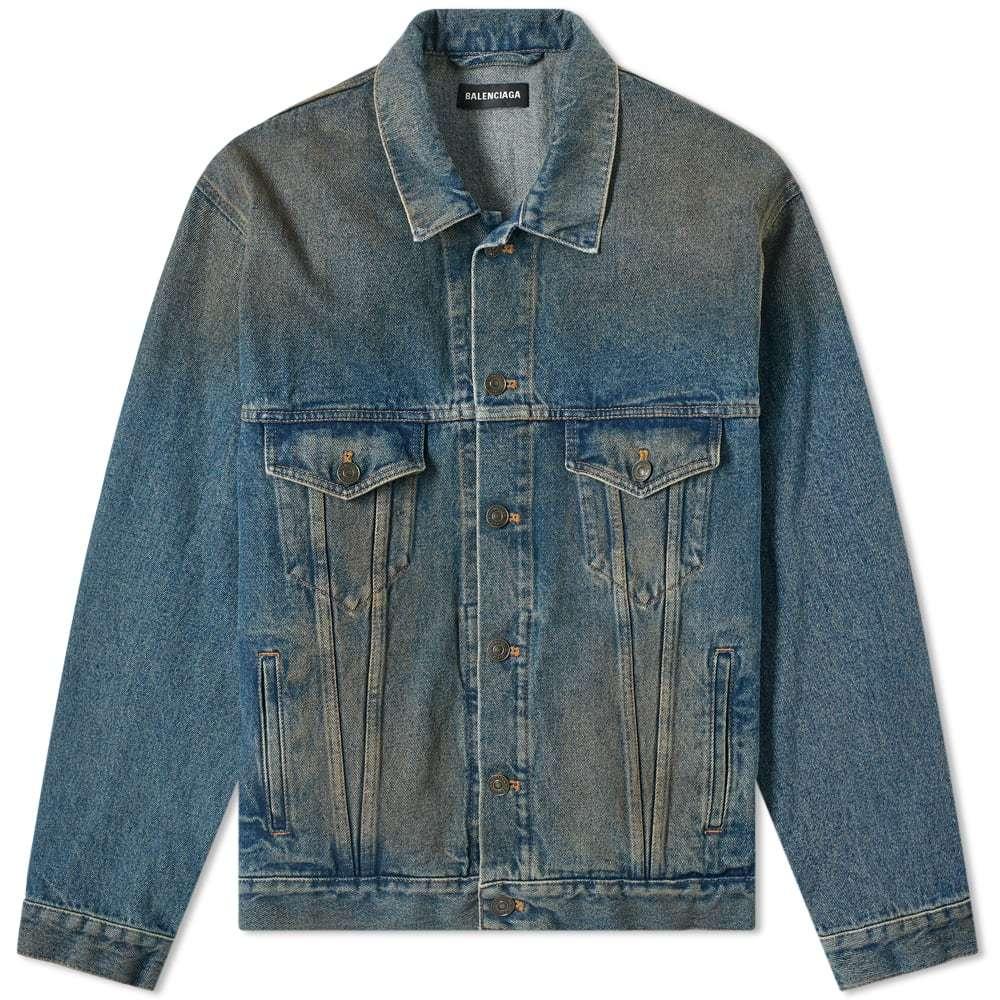 Photo: Balenciaga Signature Logo Denim Jacket