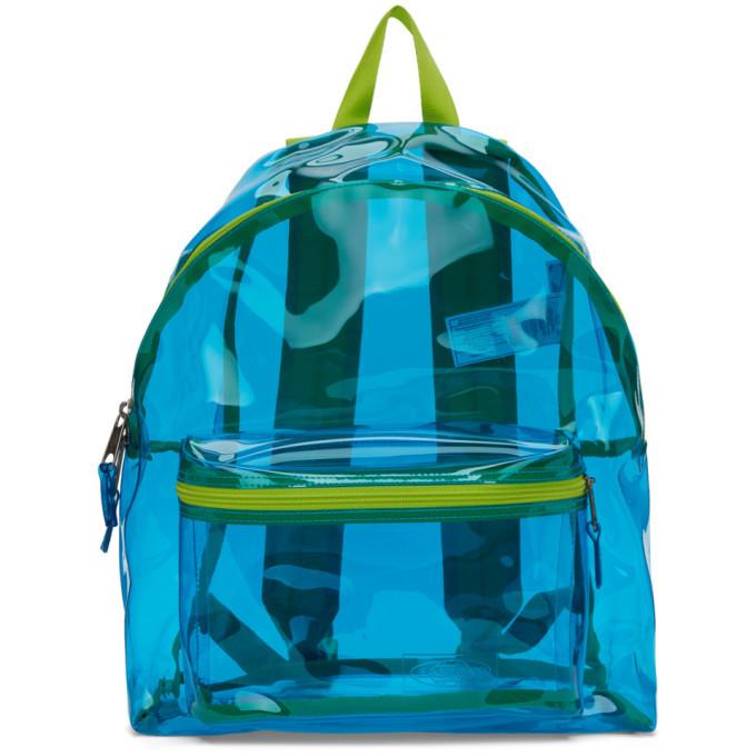 Photo: Eastpak Blue and Green Film Padded Pakr Backpack